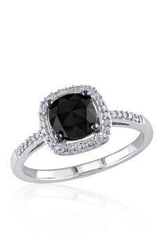 Belk  Co.  1.02 ct. t.w. Black and White Diamond Engagement Ring in 14