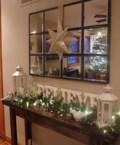 Christmas console table decor on Pinterest #0: 4bb688cca343ecbf3de9e0436c147dd8
