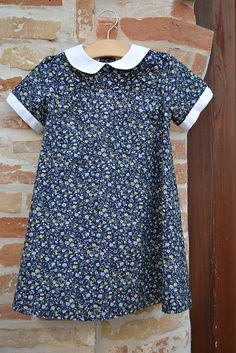 contrasting collar. Oliver and S Puppet Show Dress