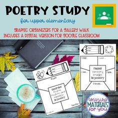 UPDATED 3/14/20 to include a Google Drive version!  I created this gallery walk graphic organizer packet to help my students engage with a variety of poems while collaborating. This packet can be used for independent work and/or partner work and includes vocabulary, figurative language, identification of sensory images, theme, and more. The study is aligned with Virginia SOLs (Standards of Learning) for ELA and CCSS (Common Core State Standards). Kindergarten Activities, Classroom Activities, Learning Activities, Classroom Decor, Teaching Ideas, Close Reading Strategies, Reading Resources, Sensory Images, The Fun Factory