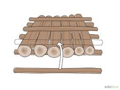 How to Build a Log Raft. Building your own raft is a great way to go on an adventure, get to a better fishing area, or simply feel like Huckleberry Finn. Wilderness Survival, Survival Prepping, Survival Gear, Survival Skills, Survival Stuff, Apocalypse Survival, The Coral Island, Raft Building, Raft Boat