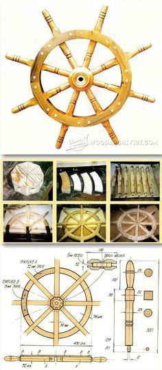 Ship Wheel Plans and Projects - Woodworking Plans and Projects   WoodArchivist.com