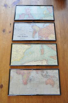 Maps as art in playroom. would be cool to frame the states/countries the girls have been to.