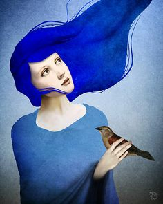 Night Bird by ChristianSchloe.  I'm sure I've pinned this before, but I just love it.