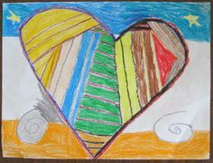 Creating Art With Kids: what can you do with a heart?