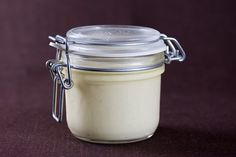 Spreadable Vegan Butter in a jar. Recipe veganbaking.net