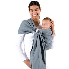 BECO Ring Sling Carrier Fashionable and Comfortable Cloud. Comfortable and Fashionable. BABY WEARING MADE SIMPLE: The classic way to carry your baby from newborn through toddler. Baby Sling Wrap, Baby Slings, Baby Carrying, Sling Carrier, Best Baby Carrier, Ring Sling, Baby List, Rings Cool, Baby Wraps