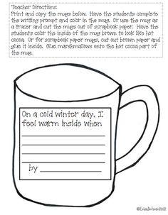 Winter Writing Freebie; would be cute bulletin board idea.
