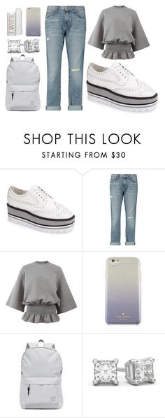 """""""Saturday Chic"""" by discobubbles ❤ liked on Polyvore featuring Jeffrey Campbell, Current/Elliott, STELLA McCARTNEY, Kate Spade, Herschel Supply Co. and Fresh"""