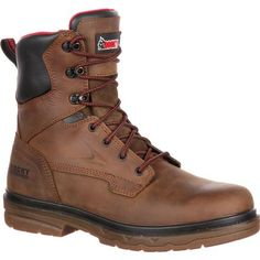 Order the Rocky Elements Shale Steel Toe Waterproof Work Boot. It's a great boot for gas, oil and drilling work. Brown Leather Boots, Brown Boots, Best Boots For Men, Fishing Boots, Shoe Wardrobe, Expensive Shoes, Steel Toe Boots, Red Flats, 5 W