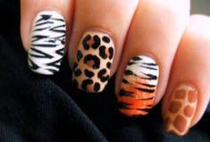 animal print nails <3