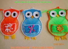 porta rollo a crochet Crochet Owl Applique, Crochet Whale, Cd Crafts, Plate Crafts, Recycled Cds, Step By Step Crochet, Applique Tutorial, Cd Art, Yarn Needle