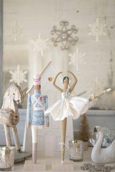 Muñecas Tilda de cuento, bailarina y soldadito de plomo