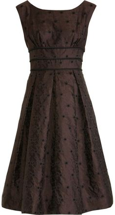 Barbara Tfank Floral Dress in Brown