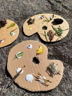 Mindfulness Art, Forest School, Preschool Learning, Land Art, Crafts For Kids, Paper Crafts, Children, Outdoor Decor, Inspiration