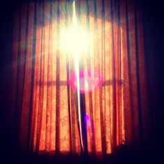 Hello Saturday! A beautiful effervescent explosion of the bright winter sun through the cracked curtains. #saturday #sunshine #morning #curtains #window #sun #winter #pattern #bedroom #fabric #morning #november #weather #sunny #original #vintage #window #sun #star #view #scene #beautiful #art #design #interiour #interior #house #old #symmetry
