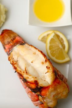 It's lobster tail time. I very rarely eat seafood. I eat seafood like lobster even less frequently. Lobster Recipes, Fish Recipes, Seafood Recipes, Great Recipes, Cooking Recipes, Fish Dishes, Seafood Dishes, Fish And Seafood, I Love Food