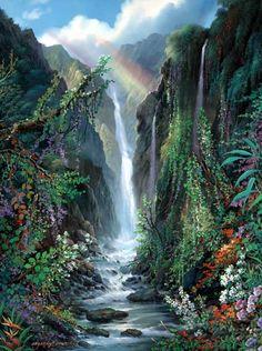 Rainbow Falls by Walfrido Garcia