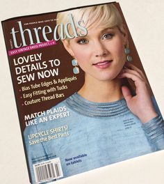 I've Been Published in Threads Magazine - The Lost Apron.  Read sewing tip on closing an opening on a project.