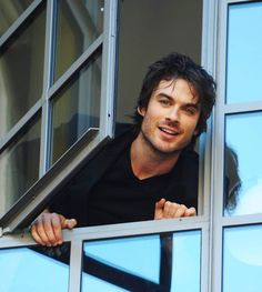 Ian Somerhalder - I love this photo of him looking out the window!
