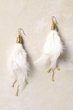 Anthropologie - Swan Wing Drops, #earrings
