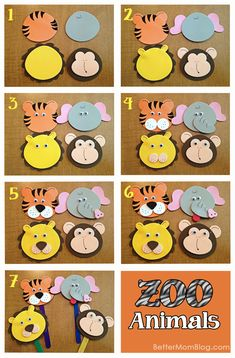 Foam zoo animal puppets tutorial. Plus, lots of other activities and ideas for young toddlers.