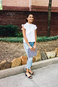 Ruffles & Stripes: Mavery Jewelry, McGuire Denim, Steve Madden