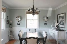 Light French grey dining room-  sherwin Williams