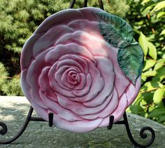Decorative Plate. Pattery plate in shape of by AnythingDiscovered, $16.00