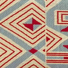 red and blue vintage fabric