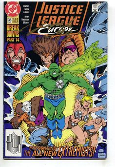 Justice League Europe 35 DC 1992 NM- Signed Darick Robertson