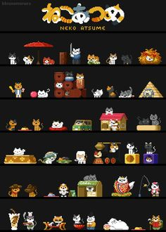 kitty cats - pics of cats - cat health - cat at work - funny cats picture Crazy Cat Lady, Crazy Cats, Neko Atsume Kitty Collector, Pixel Art, Animals And Pets, Cute Animals, Soft Kitty Warm Kitty, Kitty Games, Lego