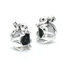 Amazon.com: Bella Fascini Spring Garden Tree Squirrel - European Charm Bracelet Bead - Fits Perfectly on Chamilia Moress Pandora Troll and Compatible Brands: Jewelry