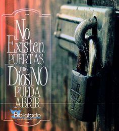 Imagenes Cristianas No existen puertas que Dios no pueda abri