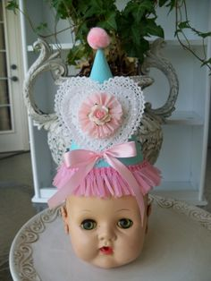Sweet Heart Birthday Hat for Birthday Party by JeanKnee on Etsy, $12.00