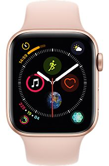 Apple Watch Series 4 (GPS, - Gold Aluminium Case with Pink Sand Sport Loop watch Ios Apple, Buy Apple Watch, Apple Watch Series, Fitness Tracker, Bracelet Sport, Sport Armband, Verizon Wireless, Pink Sand, Shopping