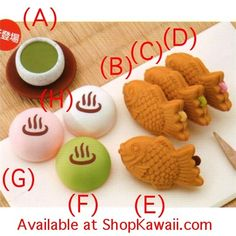 Iwako Japanese Dessert Erasers Single Pack: Series 2
