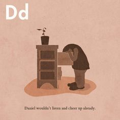 Page D from The Invisible D Cheer Up, Books, Movie Posters, Movies, Art, Livros, 2016 Movies, Film Poster, Films