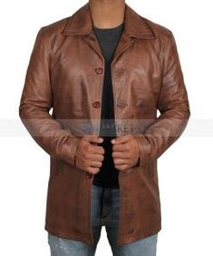 Baba Geniuse International Mens Suede Western Cowboy Leather Jacket with Zip Close Small to 4XL
