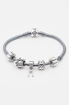 PANDORA Silver Bracelet & Charms | Nordstrom
