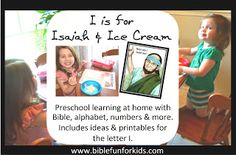 Preschool Alphabet: I is for Isaiah
