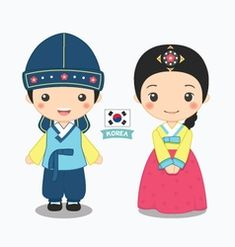Korean Clipart korea map 21 - 612 X 612 Clipart, Art Costume, Costumes, Korea Map, Korean Crafts, Chibi, Travel Doodles, Japanese Costume, Korean Hanbok