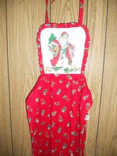 SALE SALE   Vintage 80s apron xmas christmas by ATELIERVINTAGESHOP, $10.00