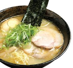 Pork ramen, or shio (salt) ramen. Make sure  the broth is light and not spicy! It's delicious!