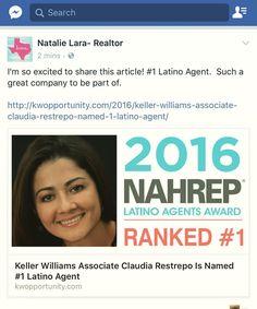 #1Latino Agent #realtorlife #realtor #gogirl #latinosnotsominority  @nahrep @nahrepsouthflorida @garyvee @davidrock @jennyahansen @robinmeade #kwdpr #kwdprnatalielara @nataliesellstxrealestate www.natalielara.com