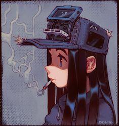 cassette girl by SoftDon on Newgrounds Female Character Design, Character Design References, Character Drawing, Character Concept, Concept Art, Comic Kunst, Comic Art, Art Sketches, Art Drawings