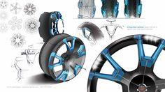 eMembrane Concept Tire by Scott Lenkowsky, via Behance