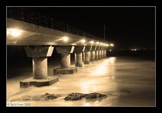 Shark Rock Pier Sepia by Sp3c7rum, via Flickr