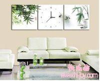 Triptico bordado bambú