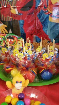 Candy Apples Birthday Party Treats, Elmo Party, Dj Party, Sons Birthday, Baby First Birthday, 1st Boy Birthday, Baby Party, 1st Birthday Parties, Birthday Ideas